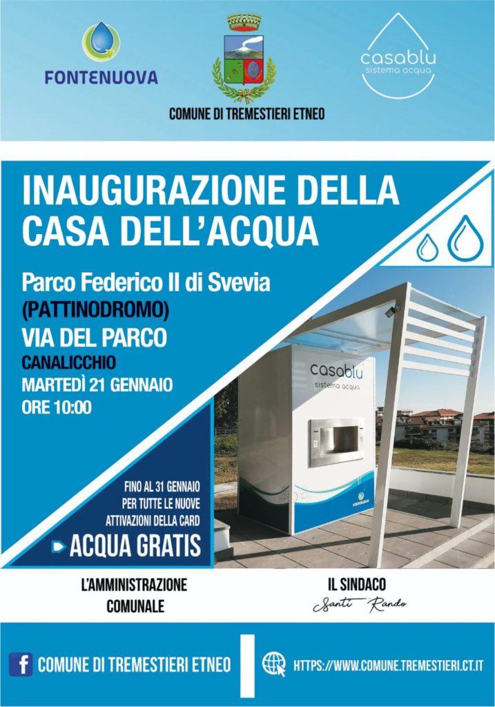 Inaugurazione Casa dell'Acqua nella frazione di Canalicchio